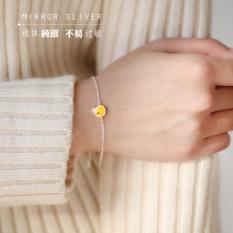 Model Korea S925 Bening Ayam Kuning Kecil Sterling Perak Kalung Klavikula Gelang Kalung