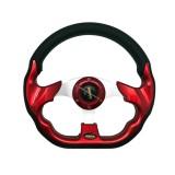 Harga Momo 56F Racing Modifikasi Setir Mobil Merah 13 Inch Merk R4