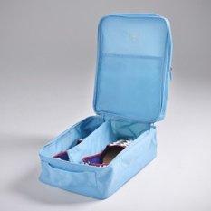 Jual Monopoly Travel Shoe Bag Biru Muda Lengkap