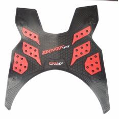 Monster Karpet Motor Beat FI 2013-2016 - Beat FI yang Spidometernya Belum Digital/LCD - Merah