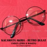 Beli Springfield Kacamata Wanita Pria Unisex Retro Bulat Akira Japan Fashion Spectacles Round Frame Eyeglasses Black Hitam Baru