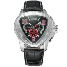 Harga Moob 2016 Jaragar Mewah Erkek Kol Saati Segitiga Hari Minggu 24 Jam Auto Mechanical Watch Wrist Watch Free Ship Hitam Terbaik