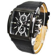 Toko Moob Brand Luxury Badace Fashion Watch Pria Kulit Tali Jam Tangan Pria Olahraga Militer Cuasual Quartz Watch Relogio Masculino Hitam Termurah