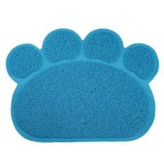 Moob Dog Paw Bentuk Makan Cat Litter Mat Non-slip PVC Pet Dog Dish Mangkuk Air Mudah Dibersihkan Premium dan Tikar Lembut. -Intl