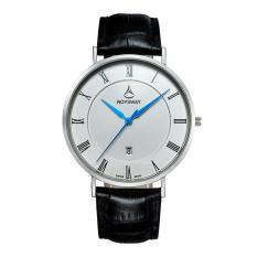 Moob Baru Ultra Large Dial Mens Asli Wei Lois Stereo Cermin Tahan Air Watch Pria Fashion QUARTZ Watch (silverBlack)