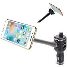 MOON STORE Bluetooth FM Transmitter Car Kit Pemegang HP. WithMP3 Musik Player USB Charger untuk IPhone7.6S. 6 S Plus.6.5S. 4 S AndAndroid Smart Ponsel Di Atas Versi 2.3-Intl