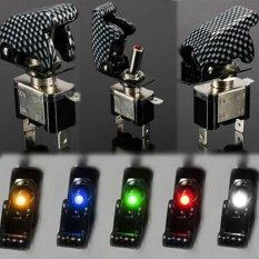 Ulasan Moonar 12 V 20A Mobil Otomatis Penutup Led Spst Atur Saklar Rocker Kontrol Pada Off Kuning