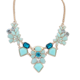 Harga Moonar Fashion Charming Candy Color Pure And Fresh Style Chain Dress Necklace Jewelry Blue Origin