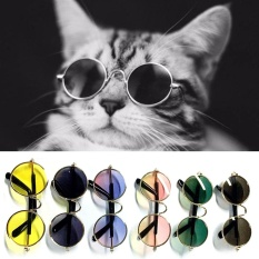 Moonar Fashion Kacamata Anjing Peliharaan Kucing Sunglasses Kaca Mata Perlindungan PET Cool Kacamata PET Tergantung dengan