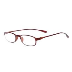 Moonar Fleksibel Cahaya Nyaman Presbyopic Perbatasan Kacamata untuk Membaca Kekuatan 3.0-Intl