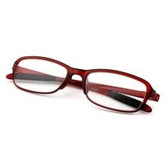 Moonar baru TR90 kekuatan +3.50 Wanita pria fleksibel pembaca kekuatan Presbyopic membaca kacamata (anggur