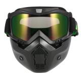 Beli Mortorcycle Topeng Dilepas Mata Dan Mulut Filter For Wajah Terbuka Helm Motorcross Ski Snowboard Lengkap