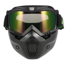 Iklan Mortorcycle Topeng Dilepas Mata Dan Mulut Filter For Wajah Terbuka Helm Motorcross Ski Snowboard