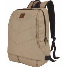 Laptop Bag Canvas ST 42 Tas Ransel Kanvas Pria & Wanita Sekolah - Kuliah - Kerja