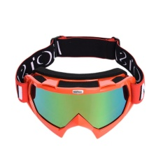 Motorbike Eyewear Lintas Negara Helm Penahan Angin Kacamata Goggles Ski Berkuda Kacamata Eye Protective Gear Motor Goggles Merah-Intl
