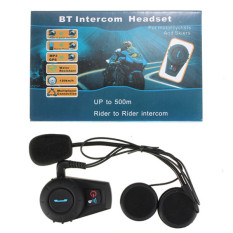 Harga Motorbike Motor 500 M Helm Intercom Headset Bt Interphone Bluetooth Hitam Asli Oem