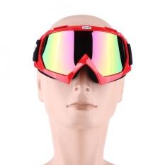 Motor ATV Pelindung Motor Trail Goggles Eyewear Ski Goggle Colorful Clear Lens Red-Intl