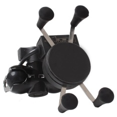 Toko Sepeda Motor Handlebar Cermin X Bentuk Grip Untuk 3 5 6 5 Inch Ponsel Mount Holder Dengan Usb Charger Penempatan Pada Kendaraan Cermin Instalasi Internasional Terdekat