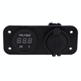 Tips Beli Motorcycle Car Boat 2In1 Lcd Waterproof Dual Usb Charger Voltage Meter
