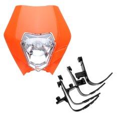 Motorcycle Dirt Bike Motocross Supermoto Universal Headlight KTM SX EXC XCF SXF SMR Headlamp (Orange) - intl