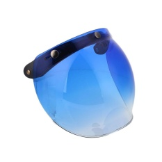Motor Lipat Hingga Down Helm Mata Wajah Gelembung Angin Perisai Cermin Lensa + Dasar-Internasional