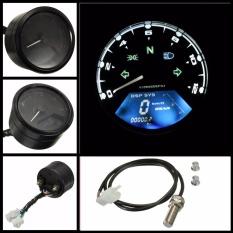 Motor LCD Digital Odometer Speedometer Sepeda Motor F1, 2, 4 silinder 12000 RPM