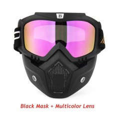 Motor Masker Motocross Dilepas Wajah Topeng Wajah Terbuka Antifog Topeng  Helm Bersepeda Ski Kacamata Olahraga Antik 09173cf141