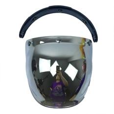 Bestprice Profesional Suku Cadang Motor Flip Up Down Helm Mata Wajah Gelembung Angin Cermin Perisai Lensa