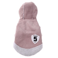 Motor Style PET Kostum Anjing Hooded Mantel Musim Dingin Pakaian Pet Supplies (Pink)-XL-Intl