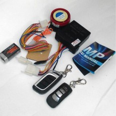 MP One Way Alarm Motor Remote lengkap - Alarm Motor MP 1 Way + Auto Jeda Injeksi