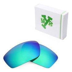 MRY Polarized Lensa Pengganti untuk Splinter Bingkai Kacamata Hitam Emerald Green-Intl