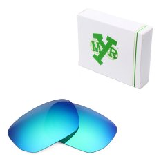 MRY Polarized Lensa Pengganti untuk Saklar Tipe Tombol Bingkai Kacamata Hitam Emerald Green-Intl