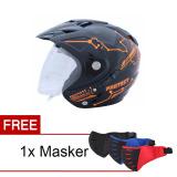 Beli Msr Helmet Impressive Protect Double Visor Hitam Oren Neon Promo Free Masker Wto Helmet Asli