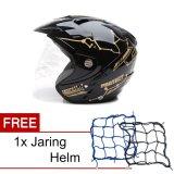 Jual Msr Helmet Impressive Protect Special Edition Hitam Gold Promo Gratis Jaring Helm Msr Helmet Asli