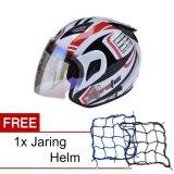 Promo Msr Helmet Javelin Aerotic Putih Hitam Merah Promo Gratis Jaring Helm Di Banten