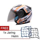 Beli Msr Helmet Javelin Aerotic Putih Hitam Oren Promo Gratis Jaring Helm Kredit