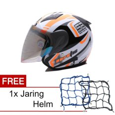 Harga Msr Helmet Javelin Aerotic Putih Hitam Oren Promo Gratis Jaring Helm Yg Bagus