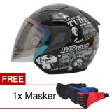 Diskon Msr Helmet Javelin History Hitam Promo Gratis Masker