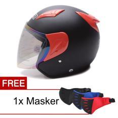Miliki Segera Msr Helmet Javelin Hitam Doff Merah Promo Gratis Masker