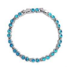 MT Perak Charm Gelang Perhiasan Fashion Crystal Cuff Gelang Perhiasan untuk Wanita Wanita Pria 0015GXB