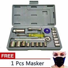 MTc AKA 02+ Kunci Shock  Wrench Set 21 PCS  Serbaguna - StainLess + Free Masker