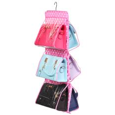 Harga Multi Fungsi Tergantung Tas Wanita Tas Penyimpanan Rapi Lemari Samping Tempat Tidur Lemari Penyelenggara Penyimpanan Gantungan Tas Pink Online