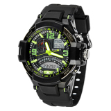 Jual Multi Fungsi Militer Digital Led Quartz Sports Watch Tahan Air Hijau Lengkap