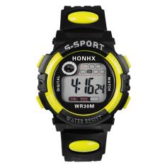 Harga Multifungsi Digital Led Alarm Tanggal Sport Waterproof Watch Kuning Intl Vakind Asli
