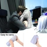 Multifungsi Inflatable Bantal Perjalanan Udara Pesawat Meja Kantor Nap Bantal Abu Abu Intl Oem Diskon 40