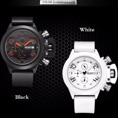 Harga Gerakan Multifungsi Pria Watch Silicone Tape Pria Jual Tahan Air Kalender Watch Intl Origin