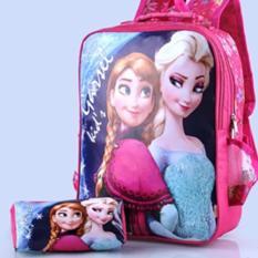 Murah Meriah tas anak perempuan motif froz3n / tas sekolah anak plus dompet garsel