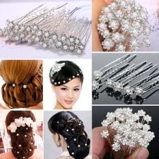 Spesifikasi Mutiara Pernikahan Pengantin Bunga Kristal Pin Rambut Klip Gadis Pengiring Pengantin Jumlah 40 Warna Perak Lengkap Dengan Harga