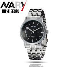 Nary Jam Tangan Analog Strap Stainless Steel - 6069 - Silver