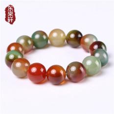 Kualitas Nasional Angin Multicolor Kristal Manik Manik Batu Akik Hijau Transfer Manik Manik Batu Akik Gelang Batu Akik Gelang Other